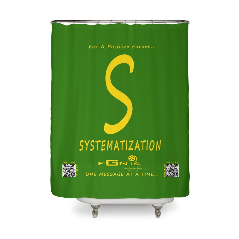 691B - S For Systematization Home Shower Curtain by FGN Inc. Online Shop