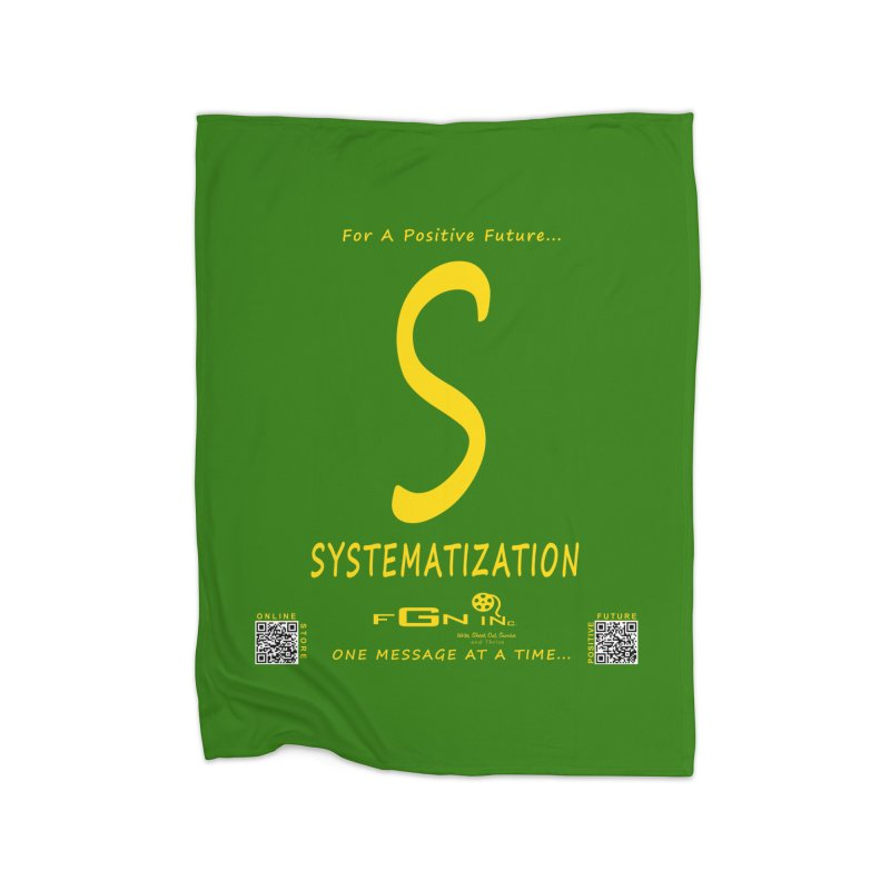 691B - S For Systematization Home Fleece Blanket Blanket by FGN Inc. Online Shop