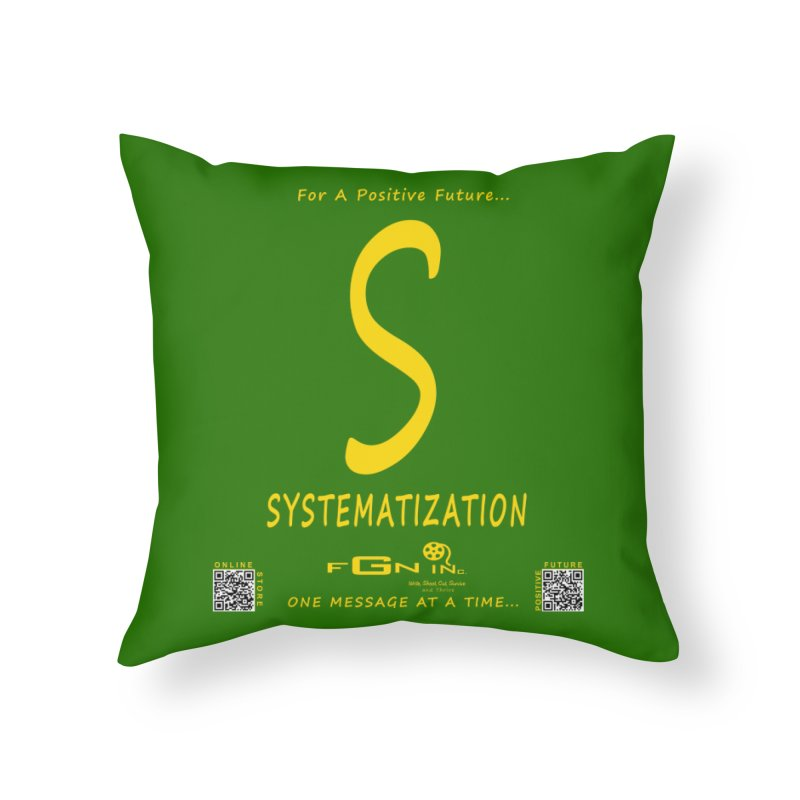 691B - S For Systematization Home Throw Pillow by FGN Inc. Online Shop