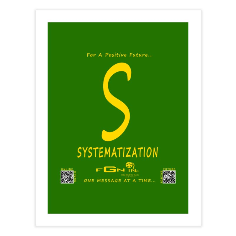 691B - S For Systematization Home Fine Art Print by FGN Inc. Online Shop