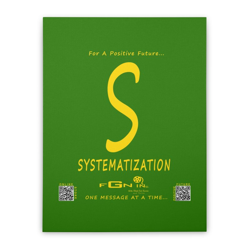 691B - S For Systematization Home Stretched Canvas by FGN Inc. Online Shop