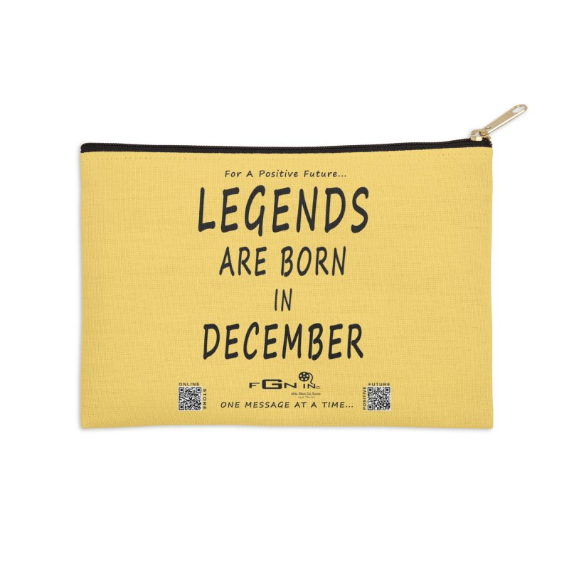 692 - Legends Are Born In December - On A Day To Remember Accessories Zip Pouch by FGN Inc. Online Shop