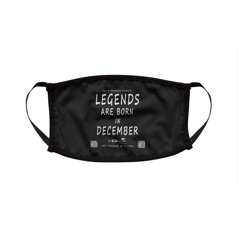 692A - Legends Are Born In December - On A Day To Remember Accessories Face Mask by FGN Inc. Online Shop