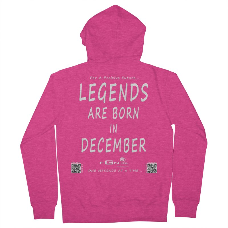 692A - Legends Are Born In December - On A Day To Remember Women's French Terry Zip-Up Hoody by FGN Inc. Online Shop