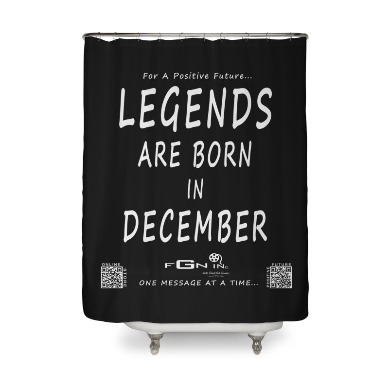 692A - Legends Are Born In December - On A Day To Remember Home Shower Curtain by FGN Inc. Online Shop