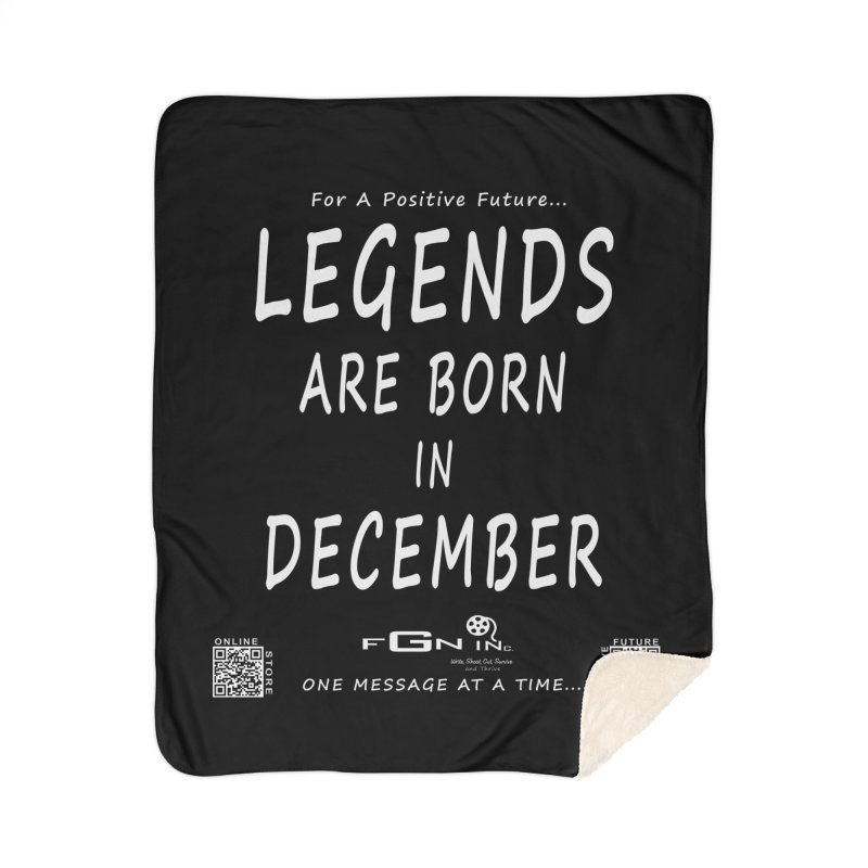 692A - Legends Are Born In December - On A Day To Remember Home Sherpa Blanket Blanket by FGN Inc. Online Shop