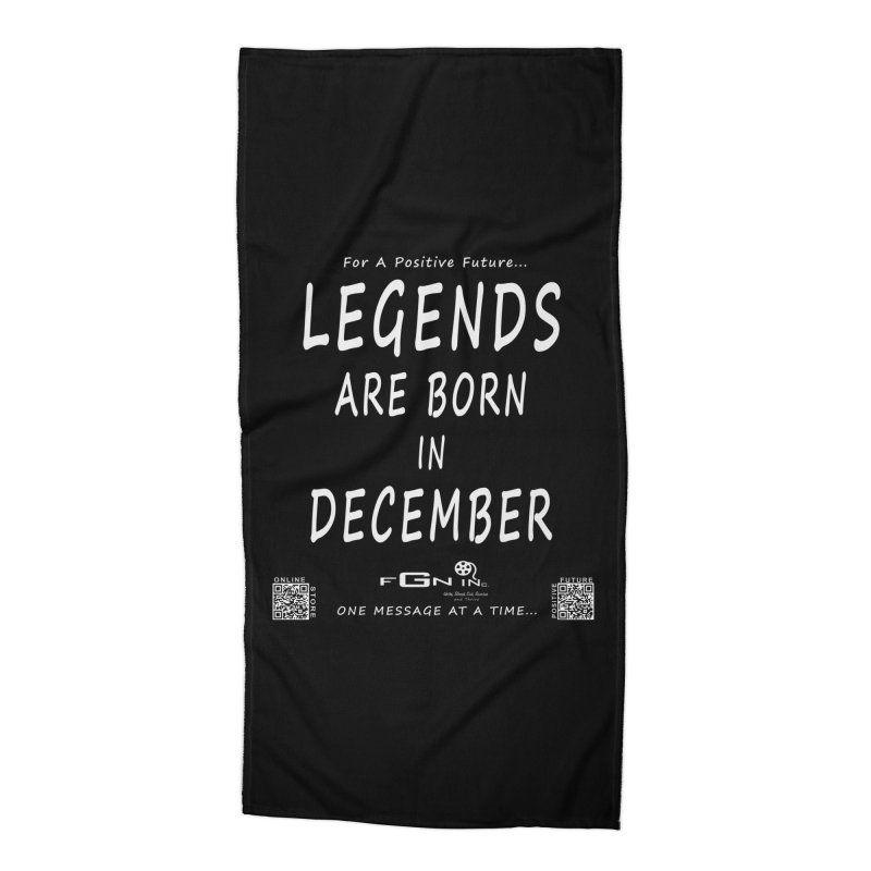 692A - Legends Are Born In December - On A Day To Remember Accessories Beach Towel by FGN Inc. Online Shop