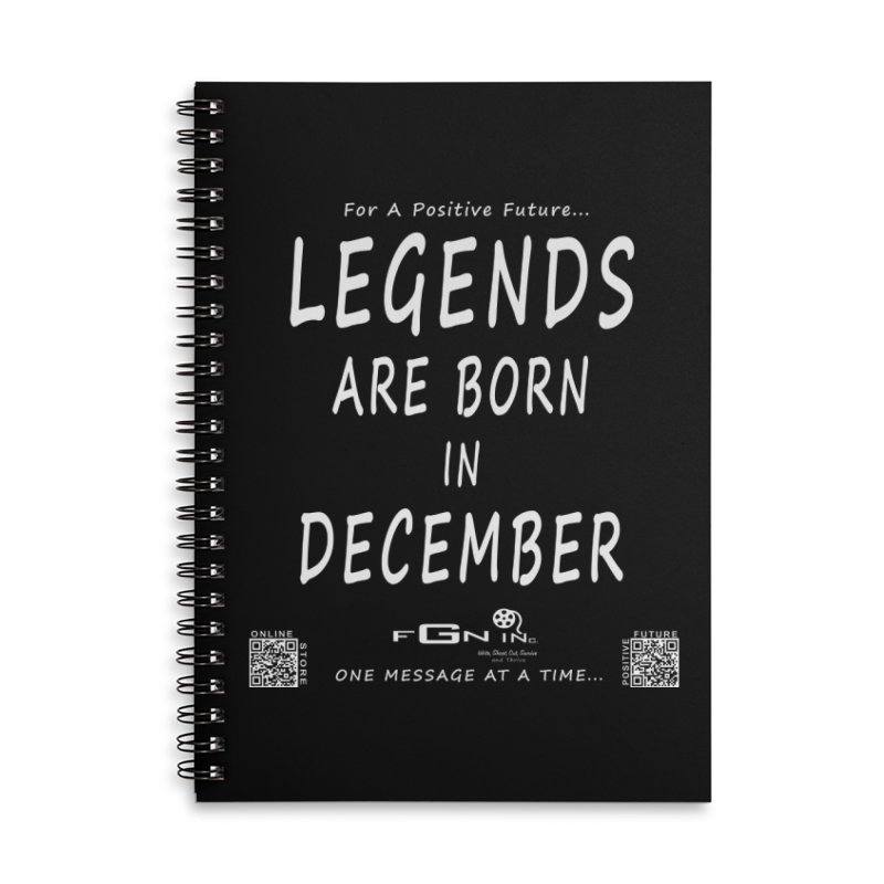 692A - Legends Are Born In December - On A Day To Remember Accessories Lined Spiral Notebook by FGN Inc. Online Shop