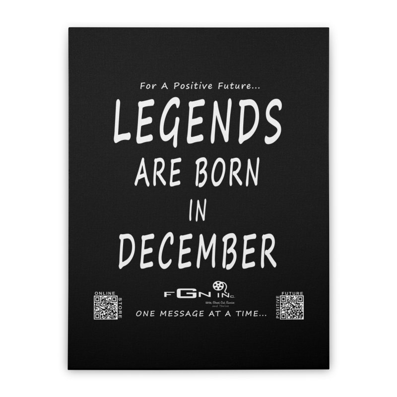 692A - Legends Are Born In December - On A Day To Remember Home Stretched Canvas by FGN Inc. Online Shop