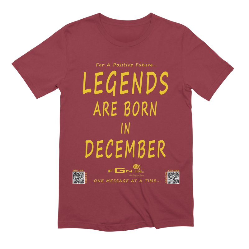 692B - Legends Are Born In December - On A Day To Remember Men's Extra Soft T-Shirt by FGN Inc. Online Shop