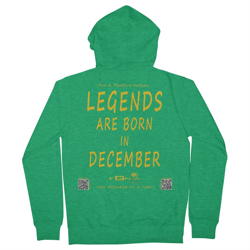 692B - Legends Are Born In December - On A Day To Remember Men's Zip-Up Hoody by FGN Inc. Online Shop