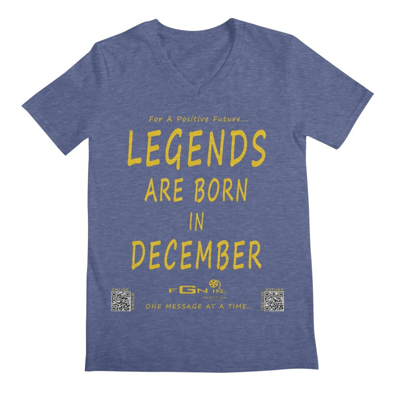 692B - Legends Are Born In December - On A Day To Remember Men's Regular V-Neck by FGN Inc. Online Shop