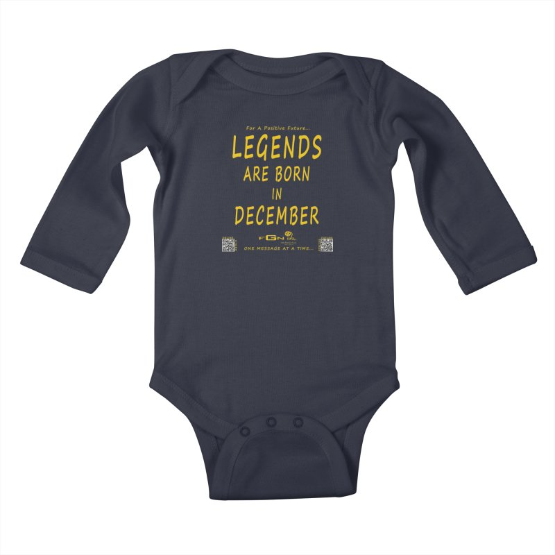 692B - Legends Are Born In December - On A Day To Remember Kids Baby Longsleeve Bodysuit by FGN Inc. Online Shop