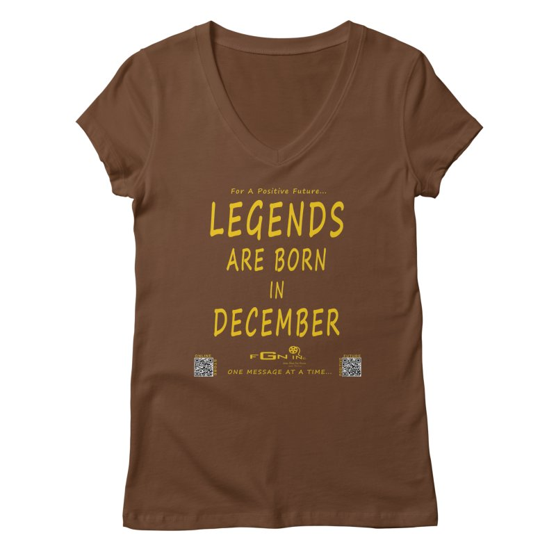 692B - Legends Are Born In December - On A Day To Remember Women's Regular V-Neck by FGN Inc. Online Shop