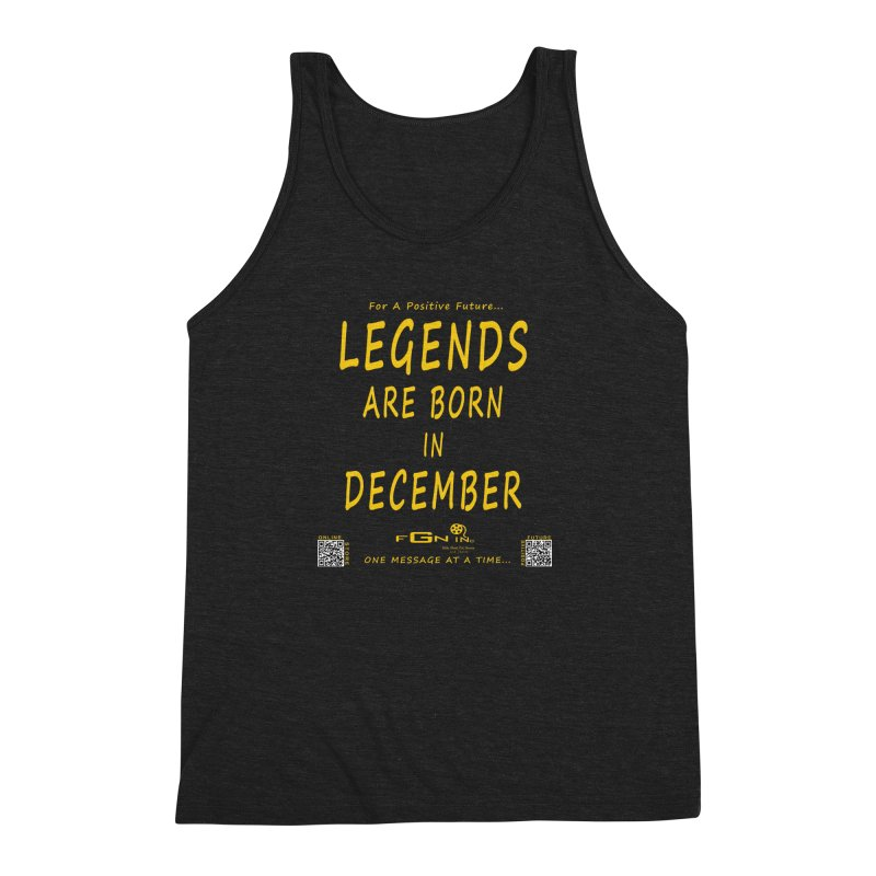 692B - Legends Are Born In December - On A Day To Remember Men's Triblend Tank by FGN Inc. Online Shop