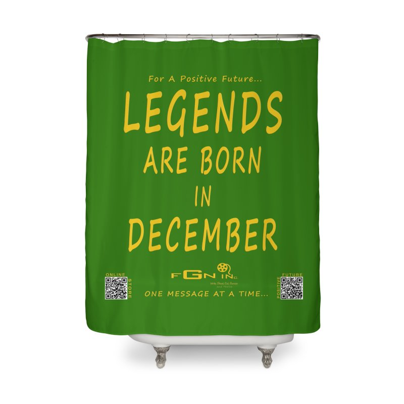 692B - Legends Are Born In December - On A Day To Remember Home Shower Curtain by FGN Inc. Online Shop