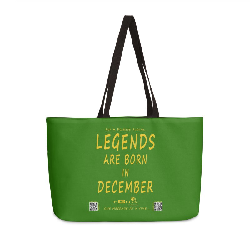 692B - Legends Are Born In December - On A Day To Remember Accessories Weekender Bag Bag by FGN Inc. Online Shop