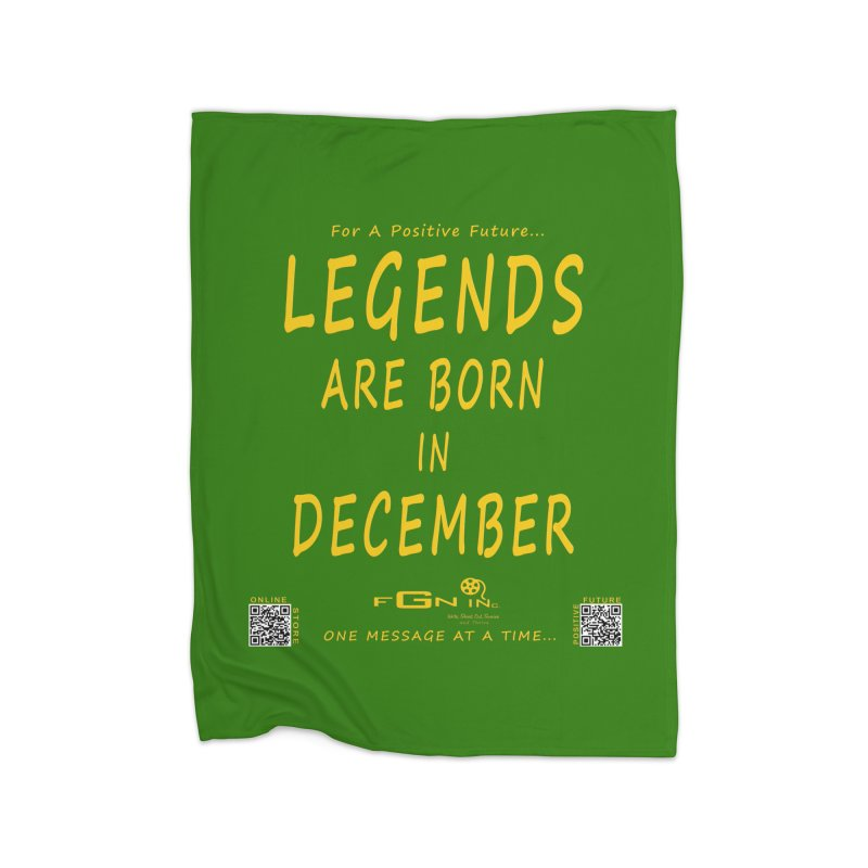 692B - Legends Are Born In December - On A Day To Remember Home Fleece Blanket Blanket by FGN Inc. Online Shop
