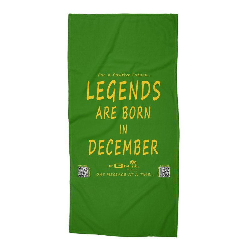 692B - Legends Are Born In December - On A Day To Remember Accessories Beach Towel by FGN Inc. Online Shop