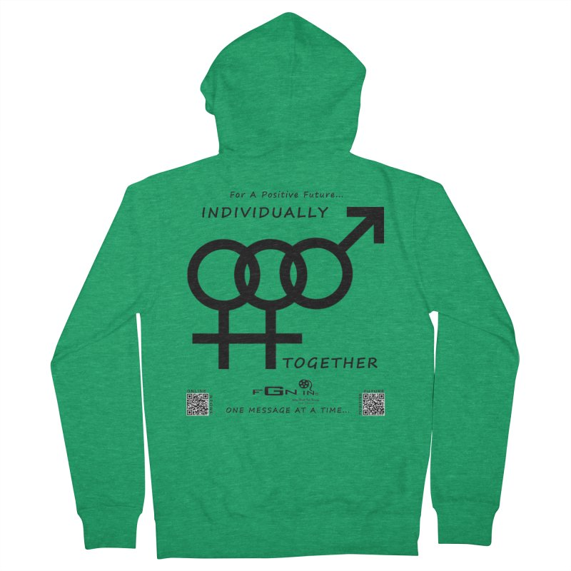 693 - Individually Together Men's Zip-Up Hoody by FGN Inc. Online Shop