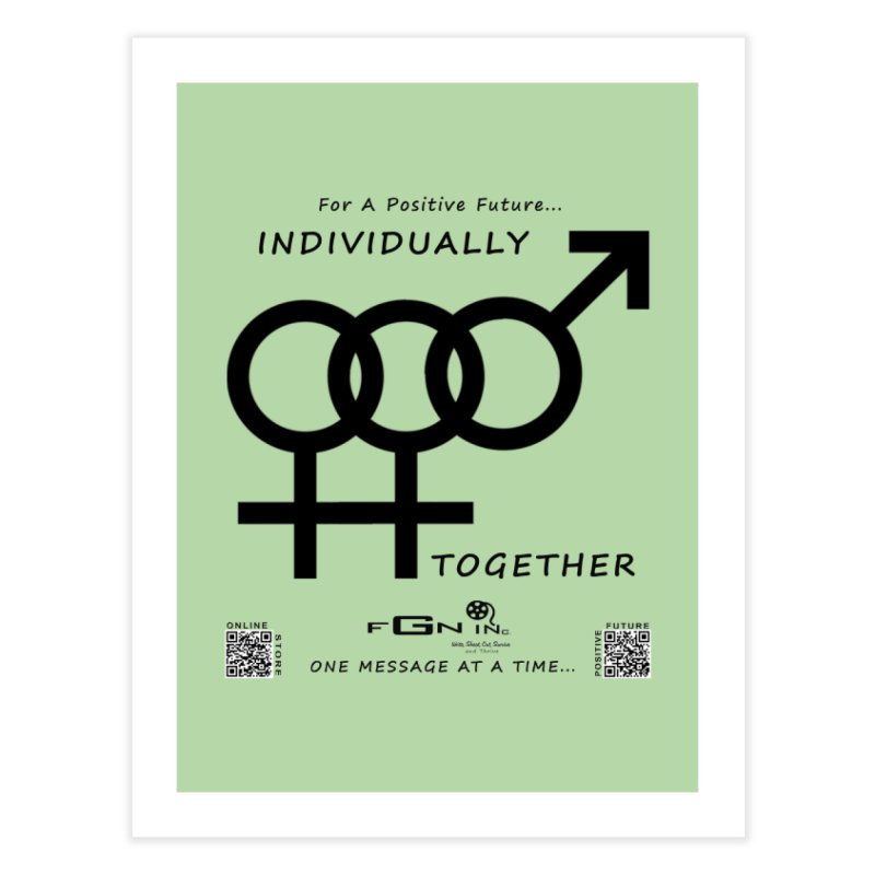693 - Individually Together Home Fine Art Print by FGN Inc. Online Shop