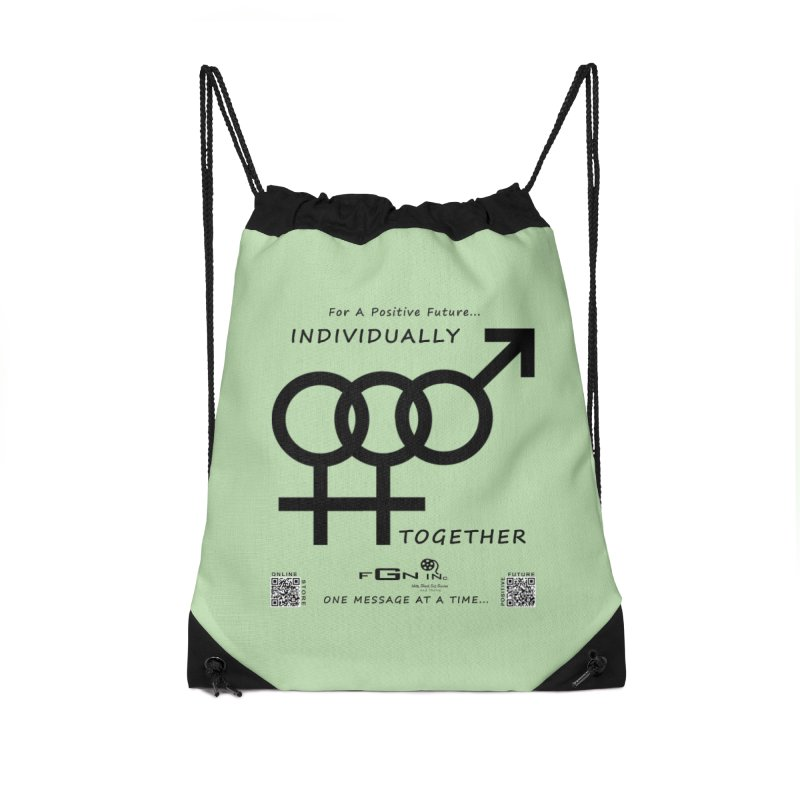 693 - Individually Together Accessories Drawstring Bag Bag by FGN Inc. Online Shop