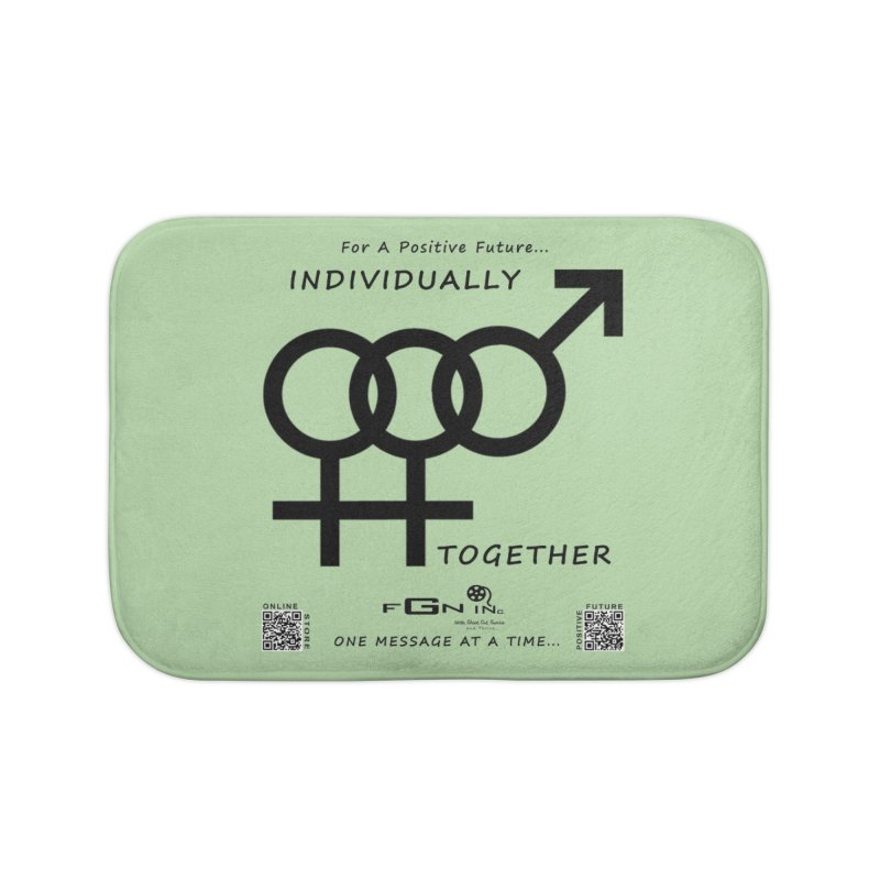693 - Individually Together Home Bath Mat by FGN Inc. Online Shop