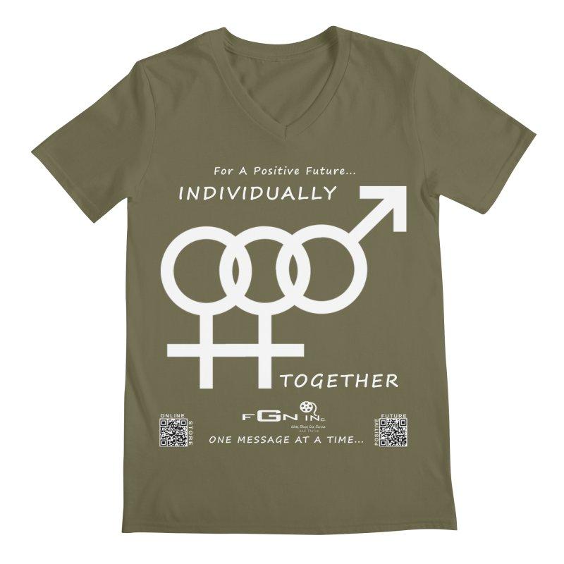 693A - Individually Together Men's Regular V-Neck by FGN Inc. Online Shop