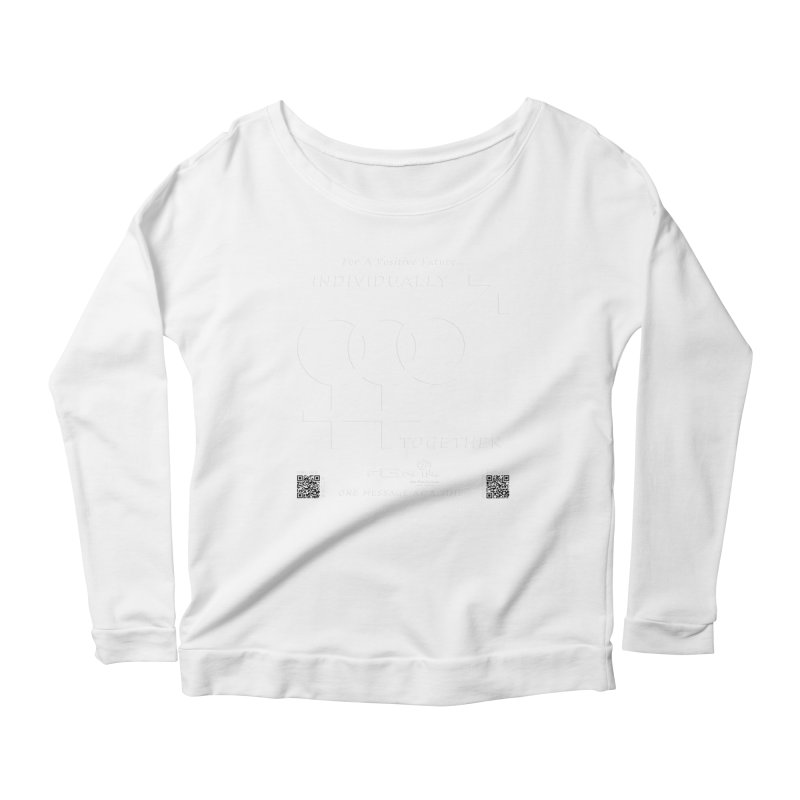 693A - Individually Together Women's Scoop Neck Longsleeve T-Shirt by FGN Inc. Online Shop