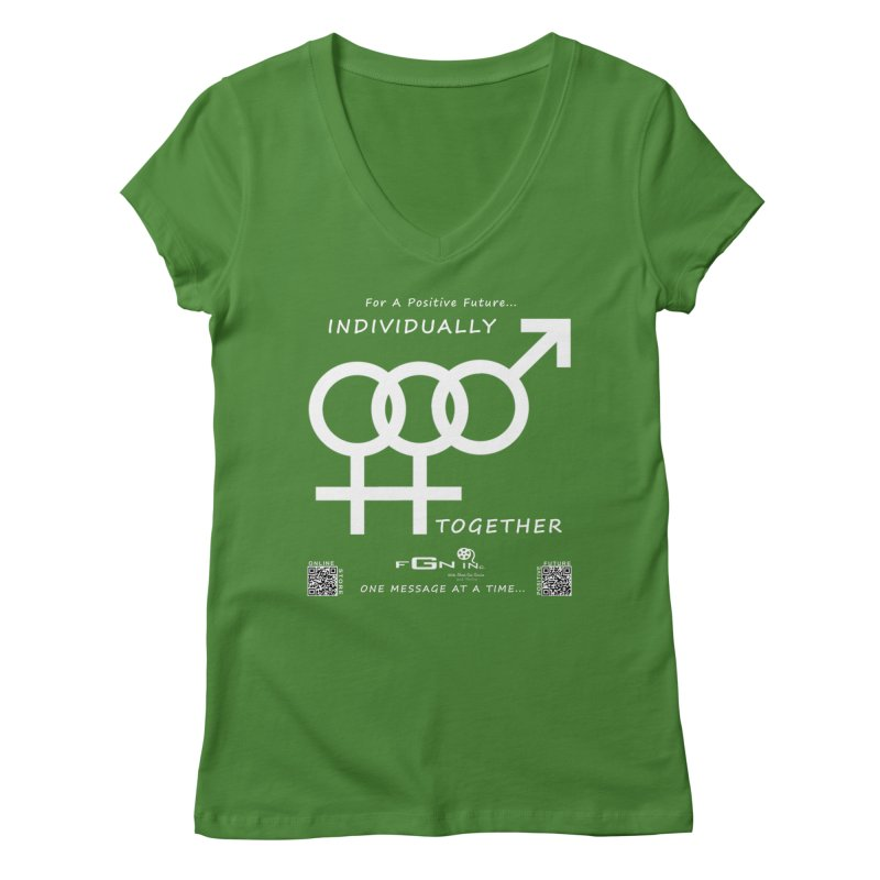 693A - Individually Together Women's Regular V-Neck by FGN Inc. Online Shop