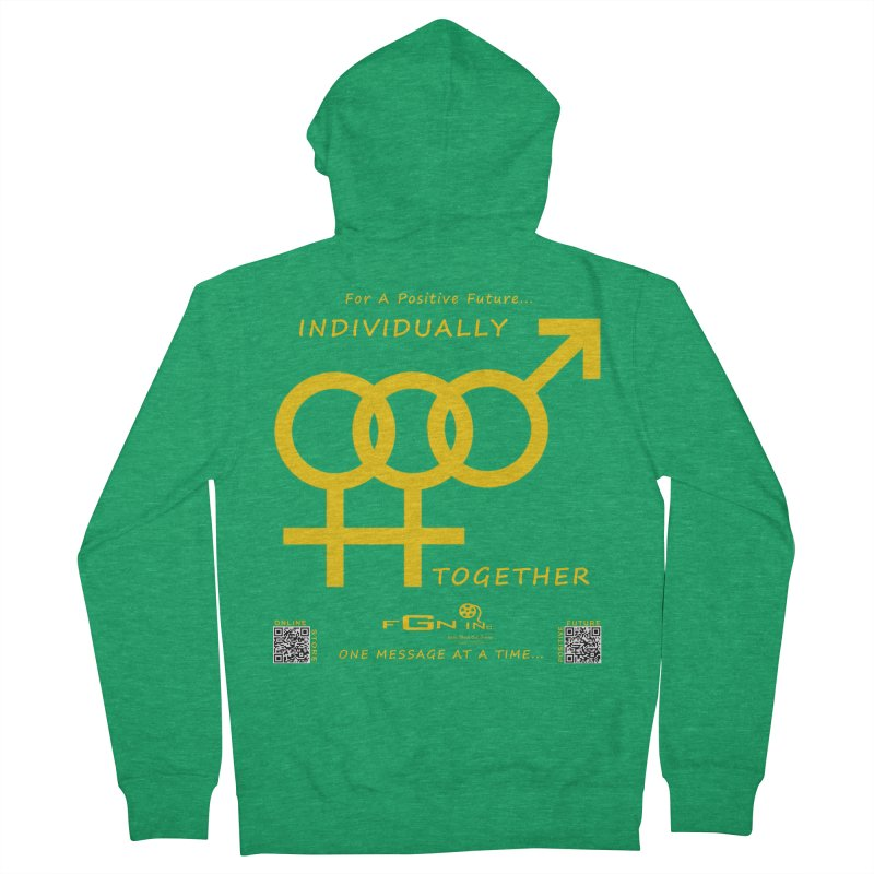 693B - Individually Together Women's Zip-Up Hoody by FGN Inc. Online Shop