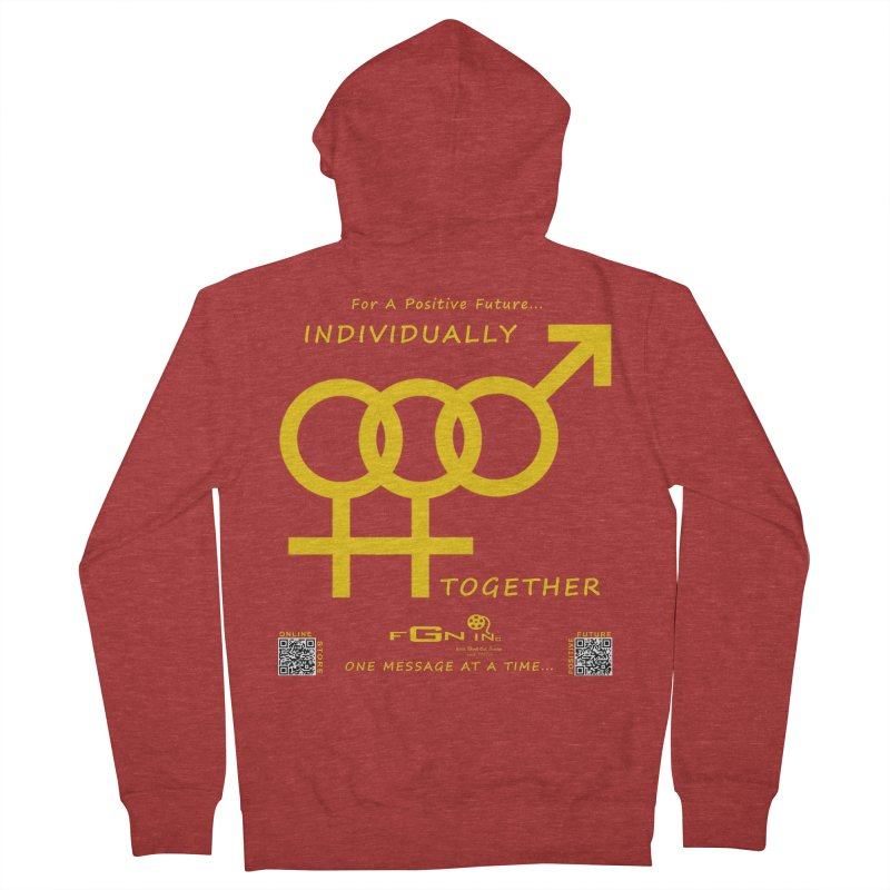 693B - Individually Together Women's French Terry Zip-Up Hoody by FGN Inc. Online Shop