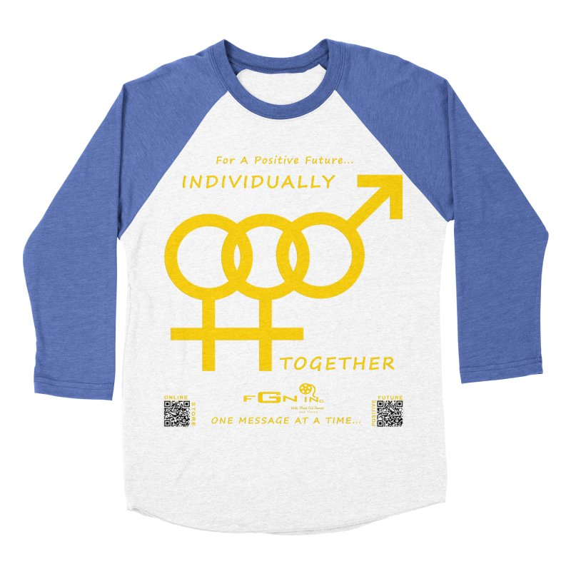 693B - Individually Together Men's Baseball Triblend Longsleeve T-Shirt by FGN Inc. Online Shop