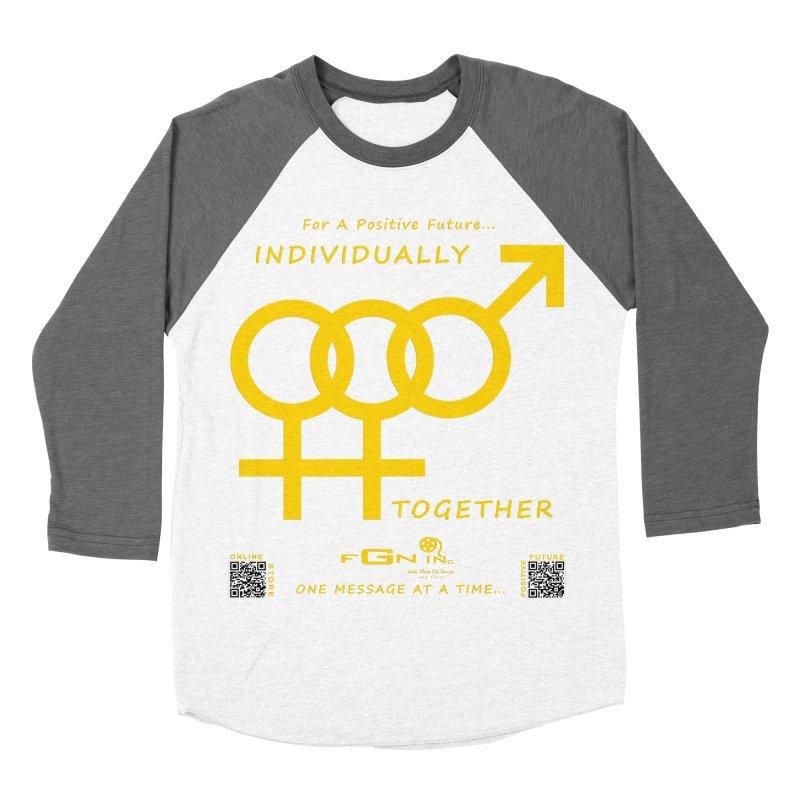 693B - Individually Together Men's Baseball Triblend Longsleeve T-Shirt by FGN Inc. Online Shop