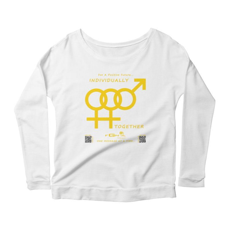 693B - Individually Together Women's Scoop Neck Longsleeve T-Shirt by FGN Inc. Online Shop