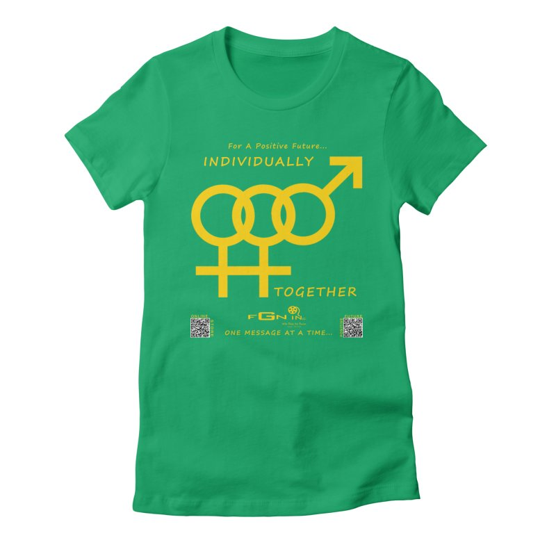 693B - Individually Together Women's Fitted T-Shirt by FGN Inc. Online Shop