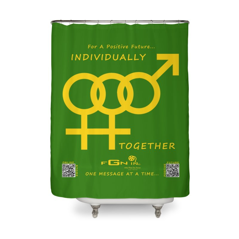 693B - Individually Together Home Shower Curtain by FGN Inc. Online Shop