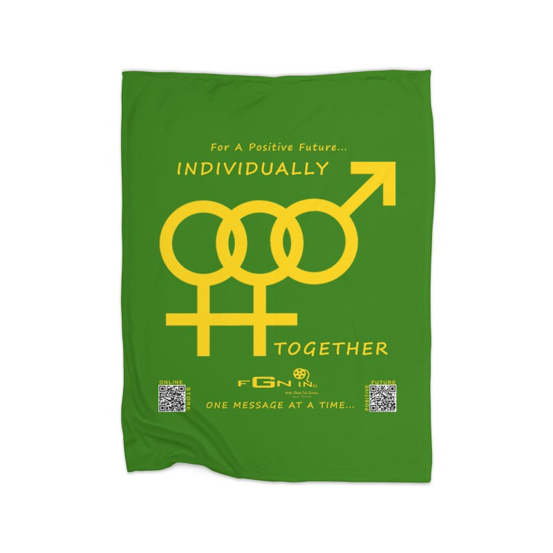 693B - Individually Together Home Fleece Blanket Blanket by FGN Inc. Online Shop