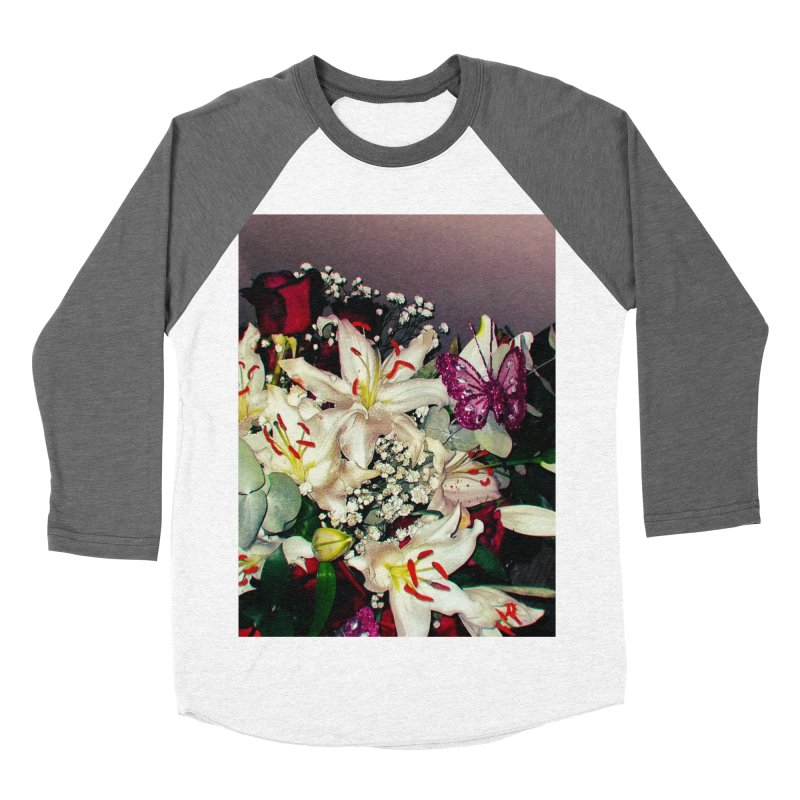 95339955 Flowers and butterfly Women's Baseball Triblend T-Shirt by franceslewis's  Shop