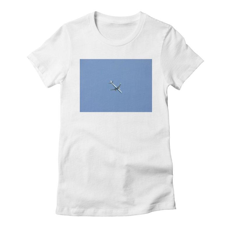 plane and blue sky Women s T-Shirt by franceslewis s Shop fe3d854735