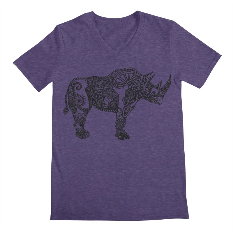 Rhino by Floris V Men's Regular V-Neck by FLORISV's Artist Shop