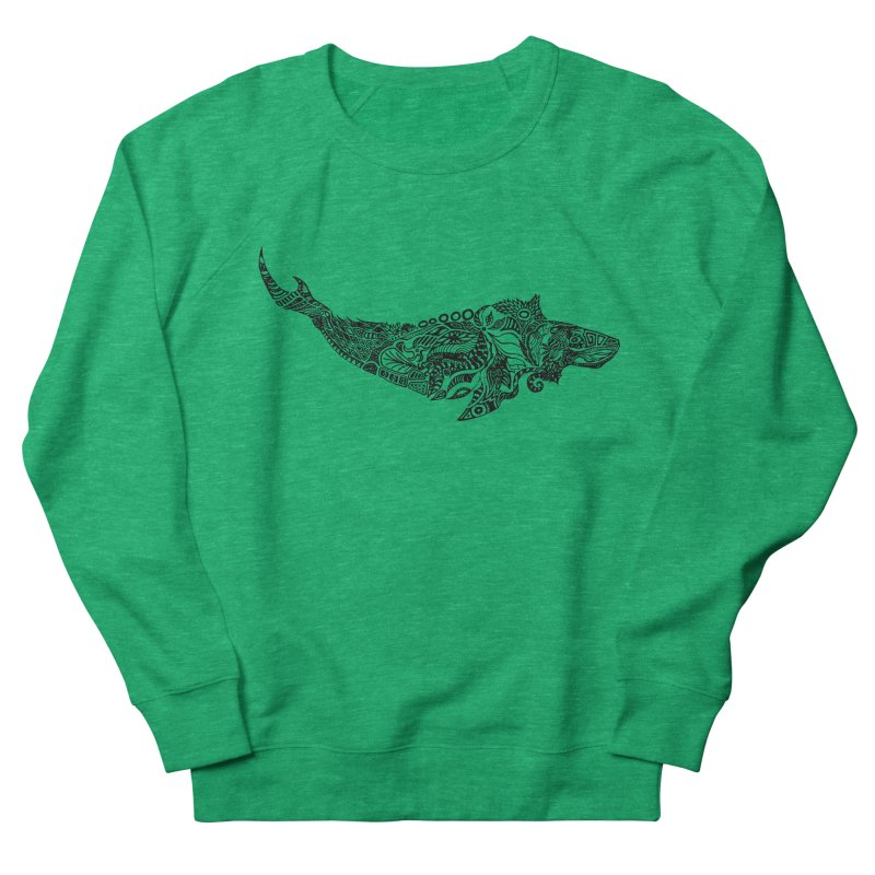 Whale drawing by Floris V Men's French Terry Sweatshirt by FLORISV's Artist Shop