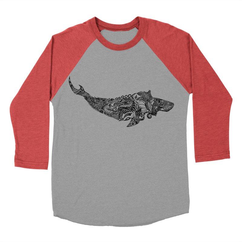 Whale drawing by Floris V Men's Baseball Triblend Longsleeve T-Shirt by FLORISV's Artist Shop