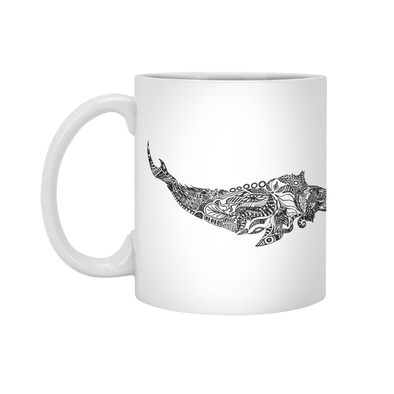Whale drawing by Floris V Accessories Standard Mug by FLORISV's Artist Shop