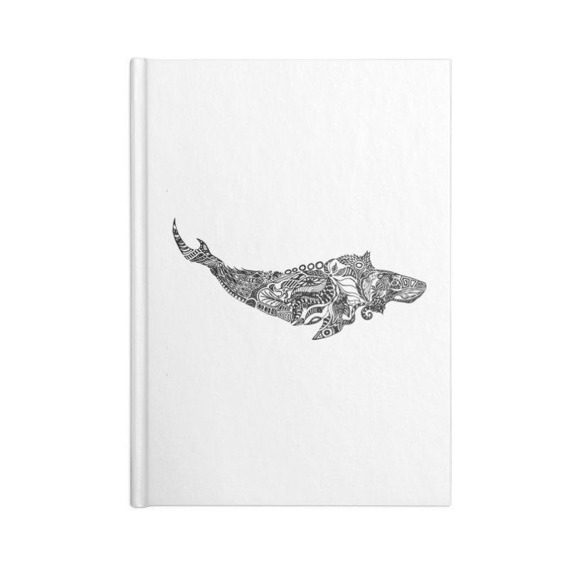 Whale drawing by Floris V Accessories Lined Journal Notebook by FLORISV's Artist Shop