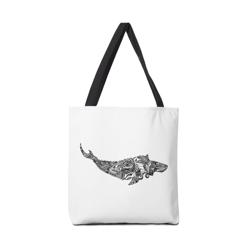Whale drawing by Floris V Accessories Tote Bag Bag by FLORISV's Artist Shop