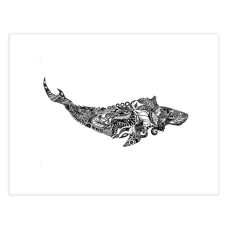 Whale drawing by Floris V Home Fine Art Print by FLORISV's Artist Shop