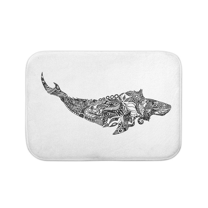 Whale drawing by Floris V Home Bath Mat by FLORISV's Artist Shop