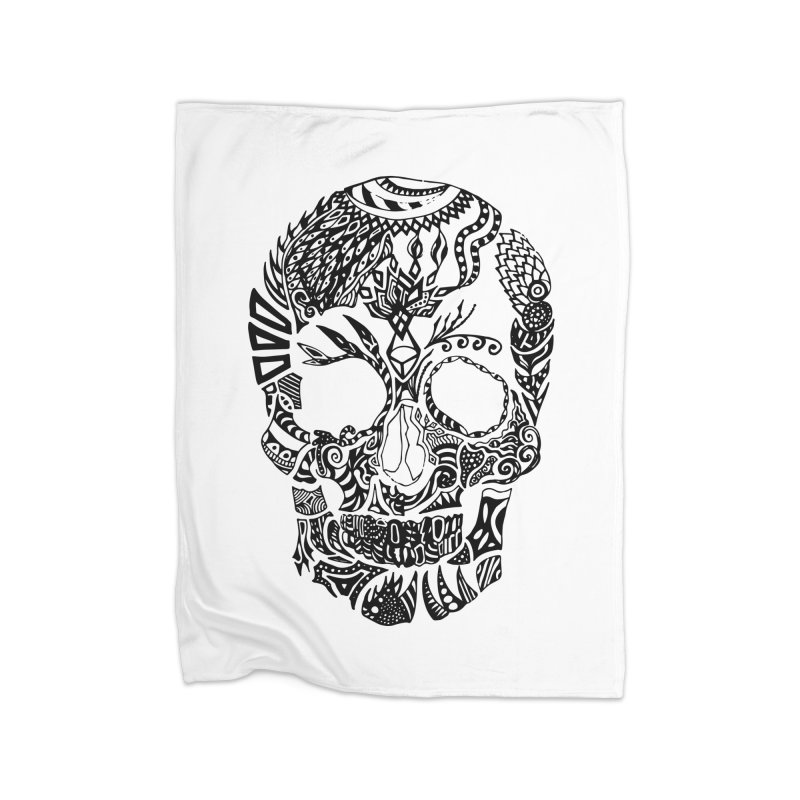 Dia de los muertos by Floris V Home Fleece Blanket Blanket by FLORISV's Artist Shop