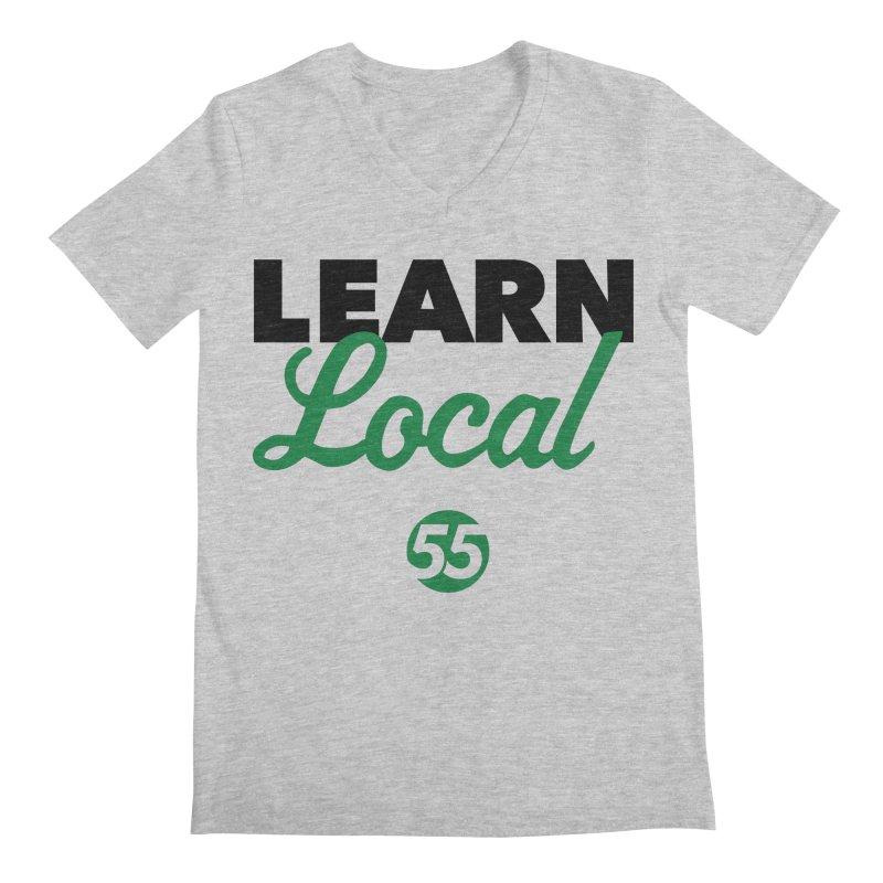 Learn Local 55 Men's Regular V-Neck by FOH55